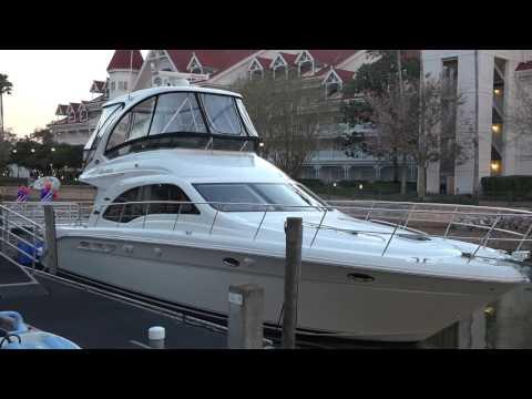 [4K]Grand 1 Yacht Tour - Cruise Around the Seven Seas Lagoon - Disney World