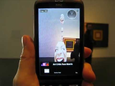 """ARt Critic Face Matrix"" in MoMA NY with Frank Stella exhibit - augmented reality art"