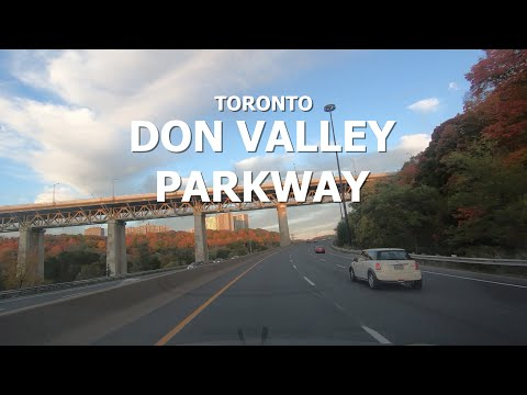 [4K] Toronto - Driving Downtown - Don Valley Parkway | Adelaide St