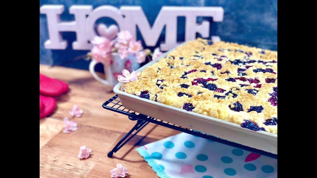 Quark Streuselkuchen Mit Blaubeeren 5 Minuten Kuchen