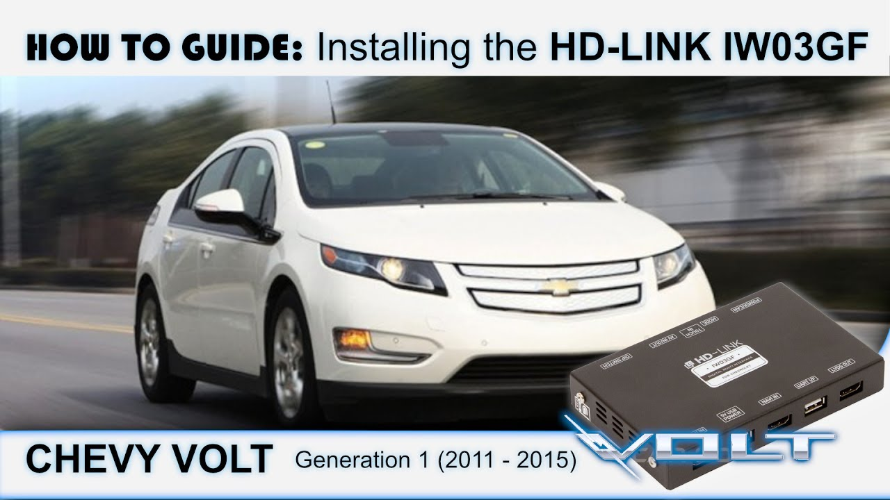 how to install an hd link iw03gf in the chevy volt (2011 2015) youtube