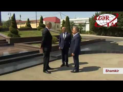 President Ilham Aliyev arrived in Shamkir district for visit