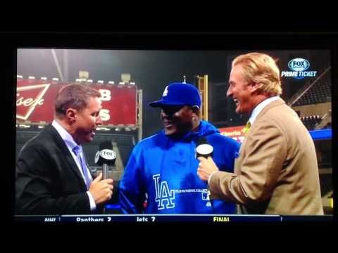 Juan Uribe's incomprehensible post game interview
