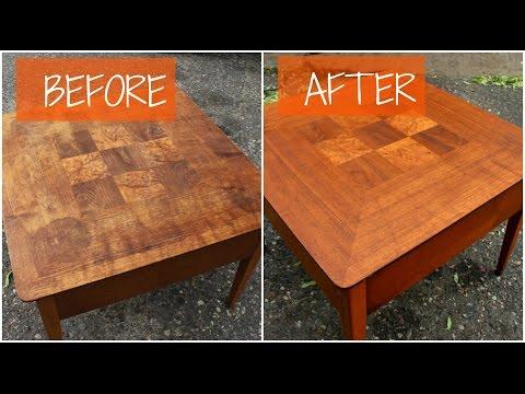 DIY Mid Century Furniture Refinish