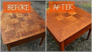 DIY Mid Century Furniture Refinish