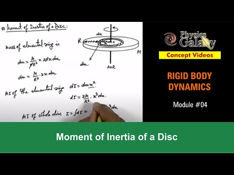 4. Class 11th Physics | Rigid Body Dynamics | Moment of Inertia of a Disc | by Ashish Arora