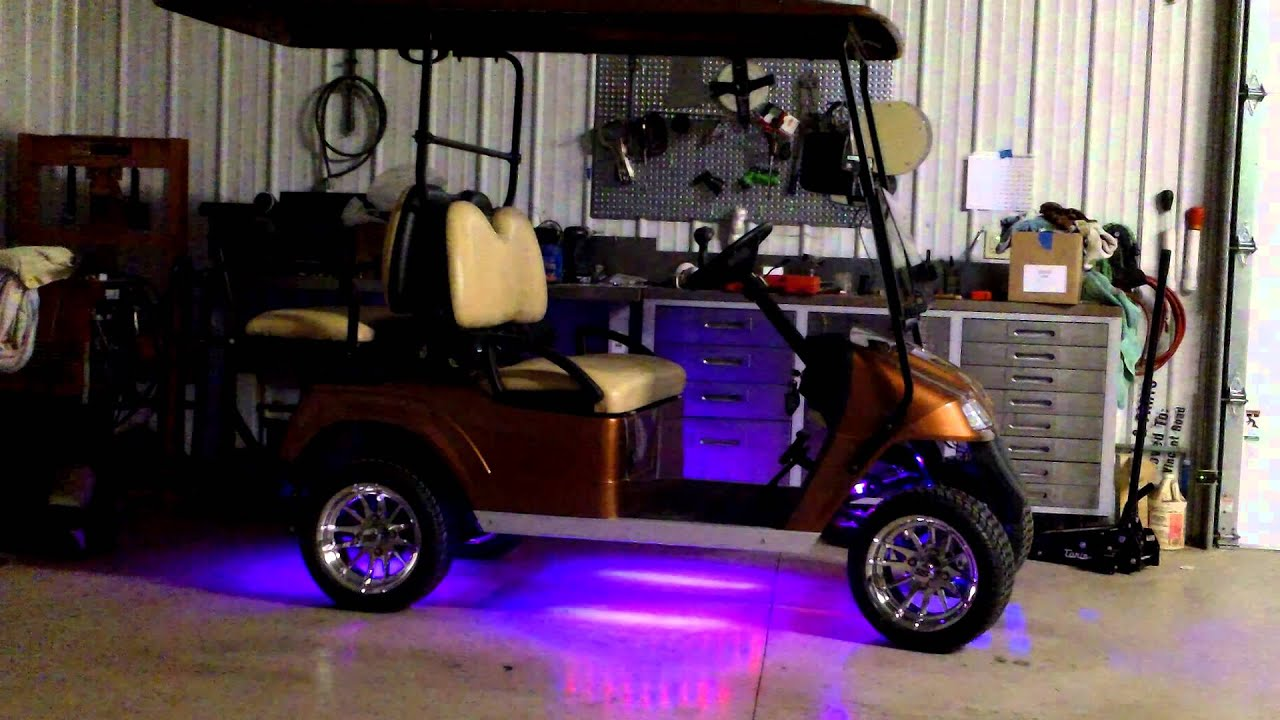 2014 Star Golf Cart Under Lighting & 2014 Star Golf Cart Under Lighting - YouTube
