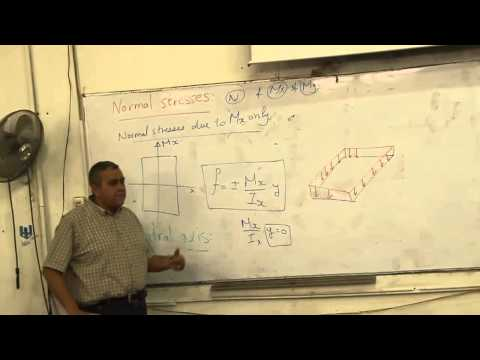 Structure Lecture 10 ( Continue Straining Actions & Normal Stresses )