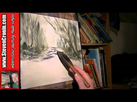 Dartmoor River Watercolour Painting Demonstration