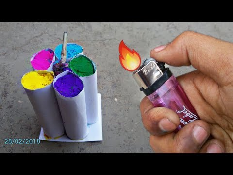 Holi multicolour bomb(Cracker) 2018 | New trick in holi