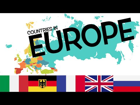 Europe Country Map And Flag For Kids | Learn Countries Name List In Europe