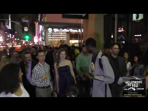 Megan Charpentier gives opion of how new IT movie was outside the IT Premiere at TCL Chinese Theatre