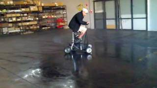 Motorized Barstool 50cc Doin Doughuts On Water Patch!
