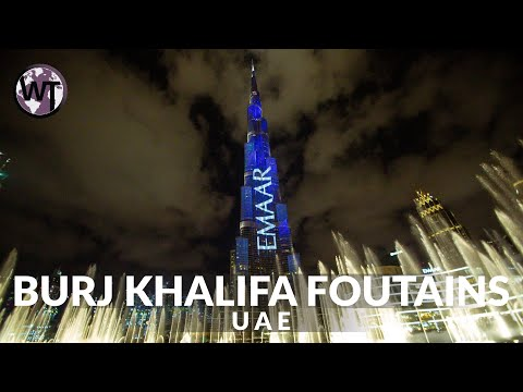 4K Virtual Tour – Dubai Burj Khalifa Fountain Show – 🇦🇪 United Arab Emirates