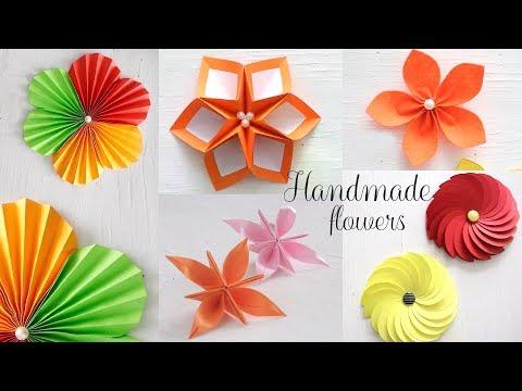 5 Easy Paper Flowers | DIY Videos | Paper Folding