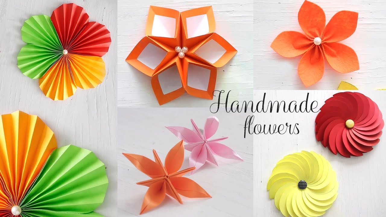 5 Easy Paper Flowers Diy Videos Paper Folding Youtube