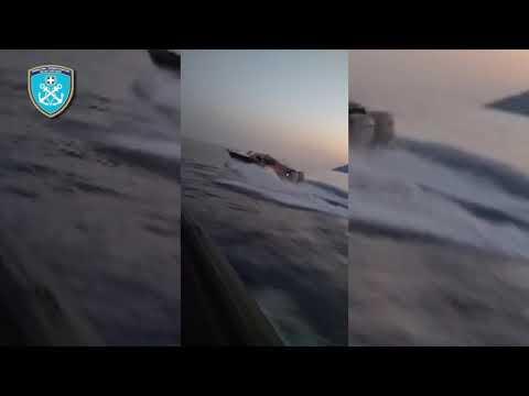 Καταδίωξη και ακινητοποίηση ταχύπλοου σκάφους μεταφοράς παράτυπα εισελθόντων προσώπων στη Λευκάδα