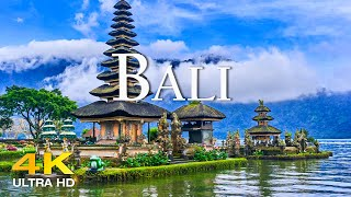 FLYING OVER BALI (4K UHD) Amazing Beautiful Nature Scenery with Relaxing Music | 4K VIDEO ULTRA HD