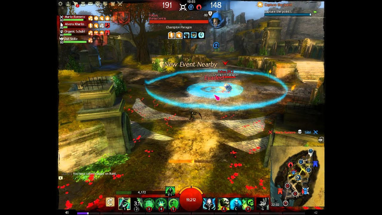Guild Wars 2 spvp necro zerker dagger/staff/wells/lich form - YouTube
