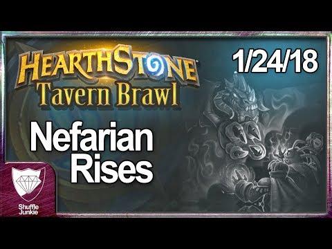 [Hearthstone] 1/24/18 Tavern Brawl: Nefarian Rises - Shuffle Junkie
