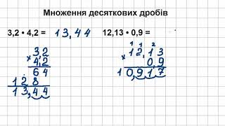 5 клас Математика Урок 4 Множення десяткових дробів