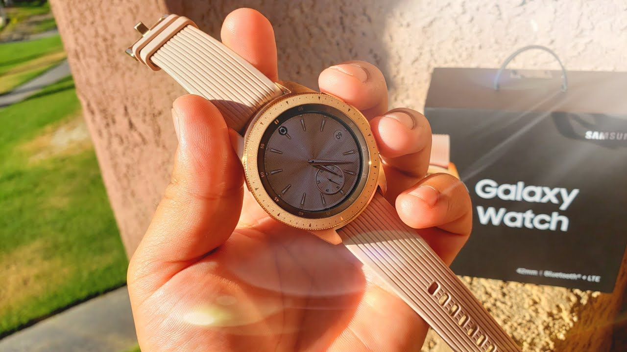 6d67422abf0 Samsung Galaxy Watch ROSE GOLD Review - YouTube