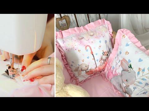 МК с выкройками. Бортики в кроватку своими руками. Мастер-класс, DIY бортики в детскую кроватку