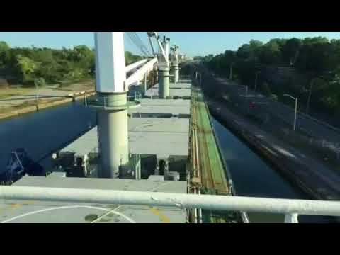 Iryda passing through St Lawrence Seaway Locks 3