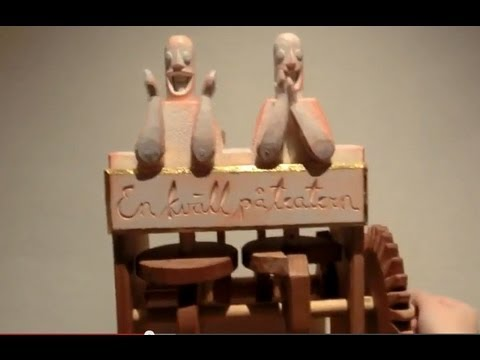 Swedish Handcraft- Hand-Cranked Wooden Automata/Machine