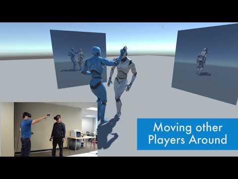 Physics based Multiple 3 Point Tracked VR Avatar Interaction