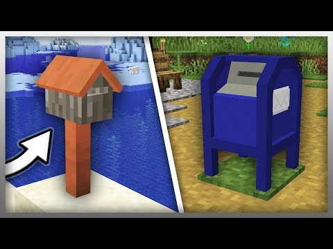 ✔️ NEW Mail System In Minecraft! (Furniture Mod Update)