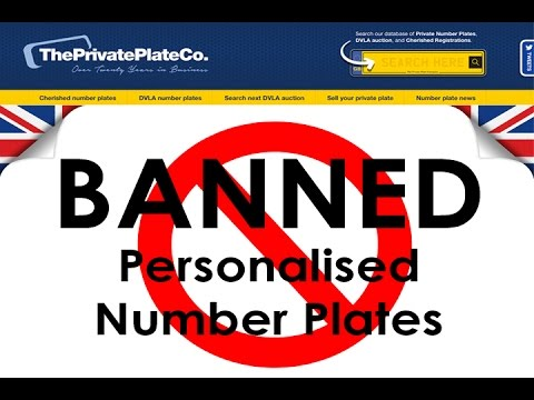 Banned Personalised Number Plates