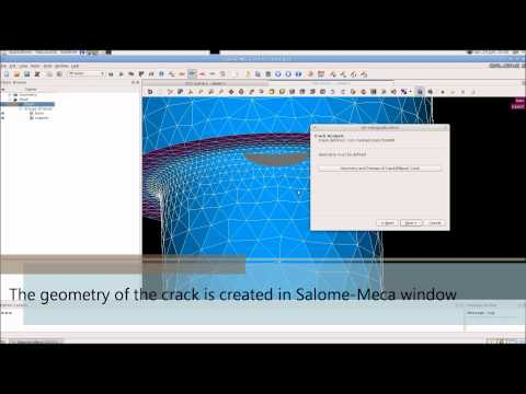 Salome-Meca 2013.2 - Crack Analysis (X-FEM)  Wizard