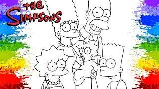 Pinturas Os Simpsons dublado em portugues Desenho animado para colorir Lisa Bart Homer Marge