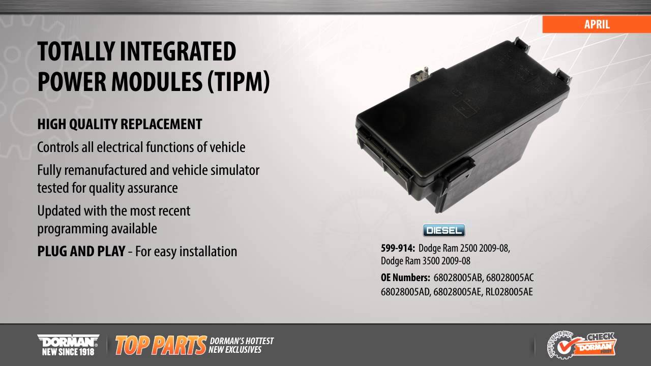 Highlighted Part: Integrated Control Module for Select Dodge Ram Models