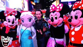 LOKI Takes Over NYC!! Featuring ELSA, SPIDER-MAN & PIKACHU!!