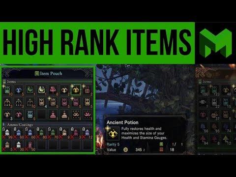 Best Items to Bring for High Rank Hunts: Monster Hunter World thumbnail