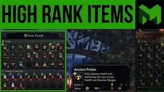 Best Items to Bring for High Rank Hunts: Monster Hunter World
