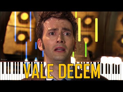 Vale Decem - Doctor Who [Synthesia Piano Tutorial]