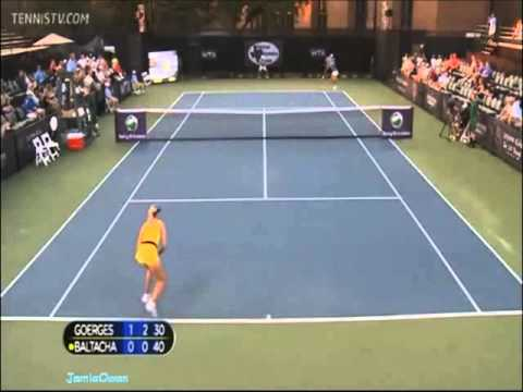 Julia Goerges vs Elena Baltacha 2011 Dallas Highlights