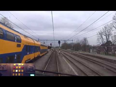 A train driver's view: Eindhoven - Maastricht, VIRM, 29-Mar-2017.