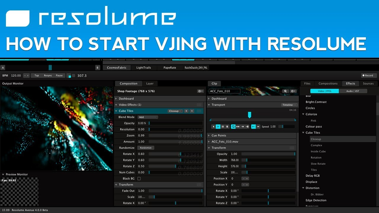 How to Start VJing with Resolume Avenue 4