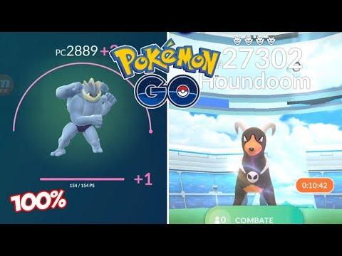REVANCHA CONTRA HOUNDOOM! SUBIENDO MACHAMP 100% AL MÁXIMO! [Pokémon GO-davidpetit]