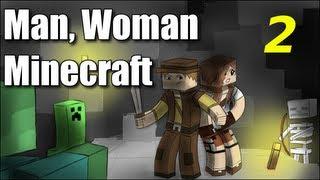"Man Woman Minecraft - S2E2 ""Jungle Wood"" (Jungle Island Survival )"