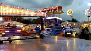 Billy Bates Fun Fair Syston Leicester. Sizzler ride September 15th 2012