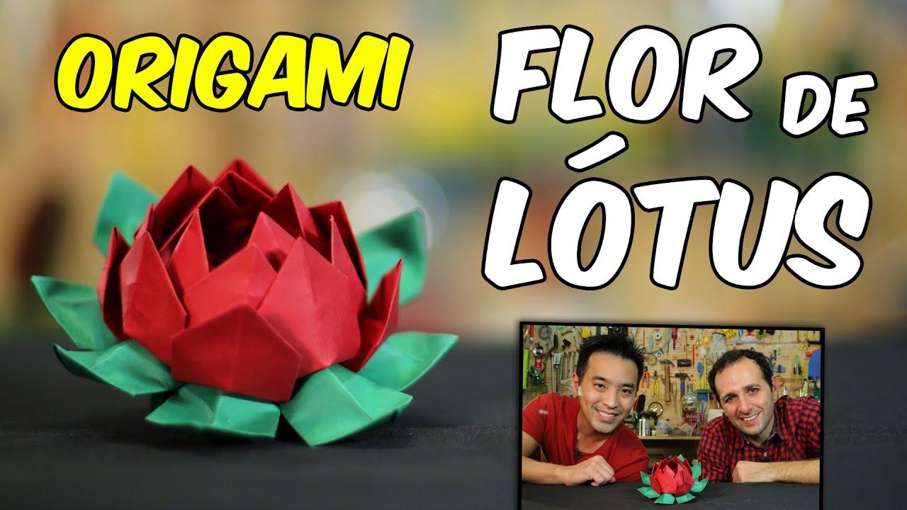Como fazer flor de lótus de ORIGAMI ft. TADASHI MORI  ????Manual do Mundo
