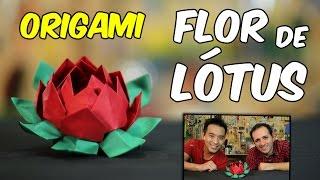 Como fazer flor de lótus de origami by Tadashi Mori