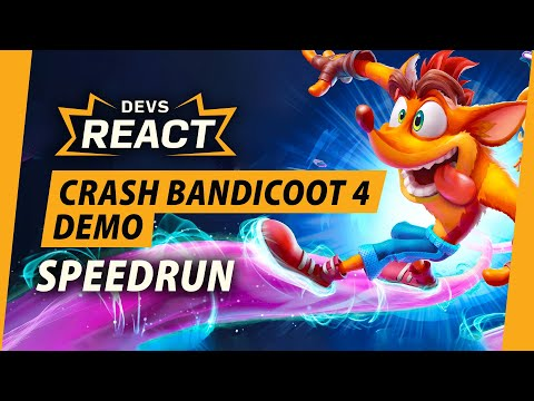 Devs Reacting to a Crash 4 Demo Speedrun Is the Funniest One Yet