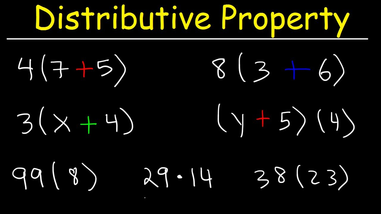 hight resolution of The Distributive Property of Multiplication - YouTube