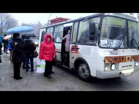 Транспортный апокалипсис на остановке на окраине в Калуге